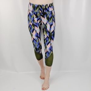 NIKE Dri-Fit Running leggings mesh inset green